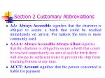 section 2 customary abbreviations