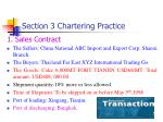 section 3 chartering practice