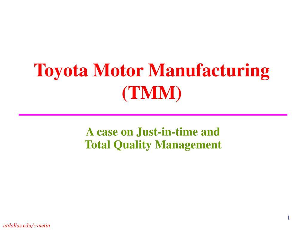 toyota motor manufacturing tmm l.