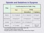 opioids and sedatives in dyspnea