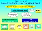 overview of mental health services for kids youth