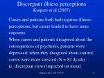 discrepant illness perceptions kuipers et al 2007