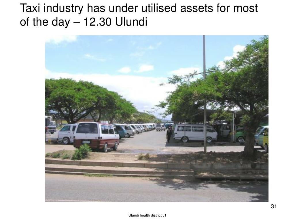 Taxi industry has under utilised assets for most of the day – 12.30 Ulundi