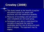 crowley 2008