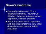 down s syndrome