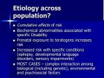 etiology across population