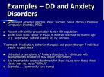 examples dd and anxiety disorders