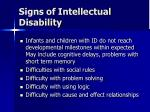 signs of intellectual disability