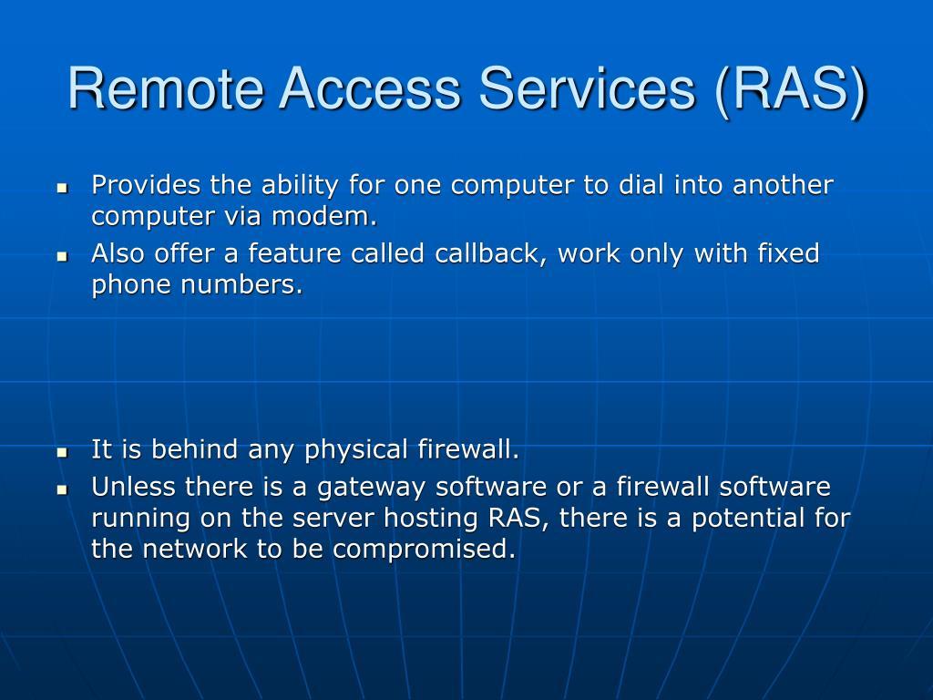 Remote Access Services (RAS)