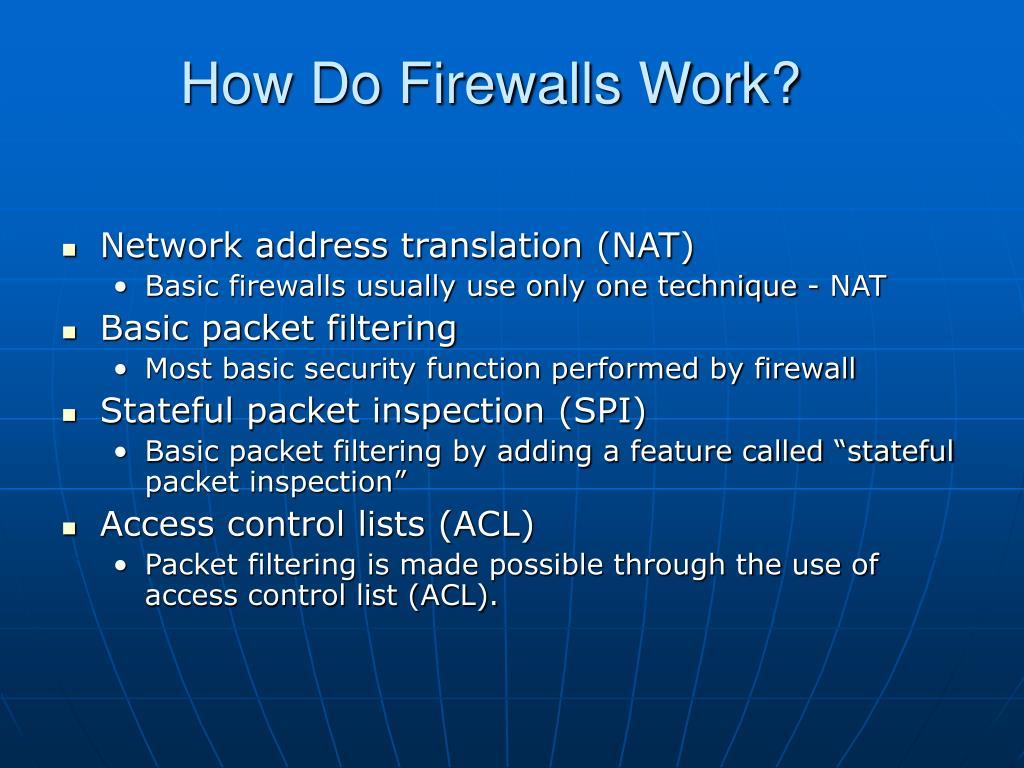 How Do Firewalls Work?