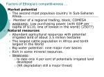 factors of ethiopia s competitiveness