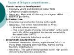 factors of ethiopia s competitiveness16