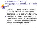 can intellectual property misappropriation constitute a criminal act