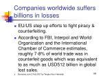 companies worldwide suffers billions in losses