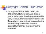 copyright anton pillar order36