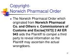 copyright norwich pharmacal order