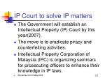 ip court to solve ip matters