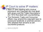 ip court to solve ip matters113