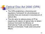 optical disc act 2000 opa