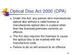 optical disc act 2000 opa129