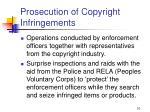 prosecution of copyright infringements