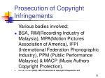 prosecution of copyright infringements52