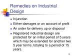 remedies on industrial design