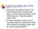 trade description act 197267