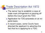 trade description act 197268