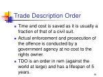 trade description order