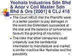 yeohata industries sdn bhd anor v coil master sdn bhd ors 2001 6 clj 41897
