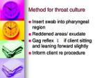 method for throat culture