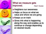 what we measure gets improved peter f drucker