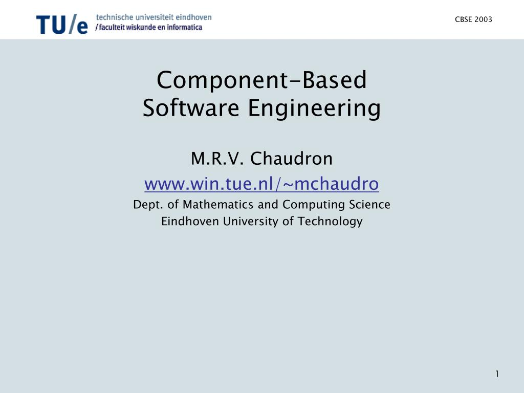 component based software engineering l.