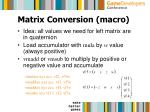 matrix conversion macro25