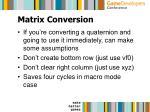 matrix conversion31