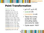 point transformation