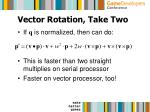 vector rotation take two