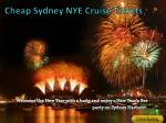 cheap sydney nye cruise tickets