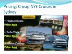 pricing cheap nye cruises in sydney