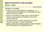 preventitive measures oral care58