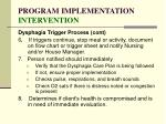 program implementation intervention128