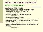 program implementation risk assessment83