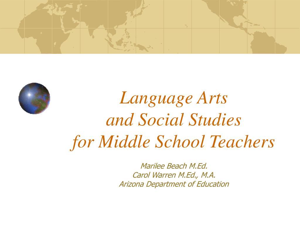 language arts and social studies for middle school teachers l.