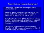 theoretical and research background