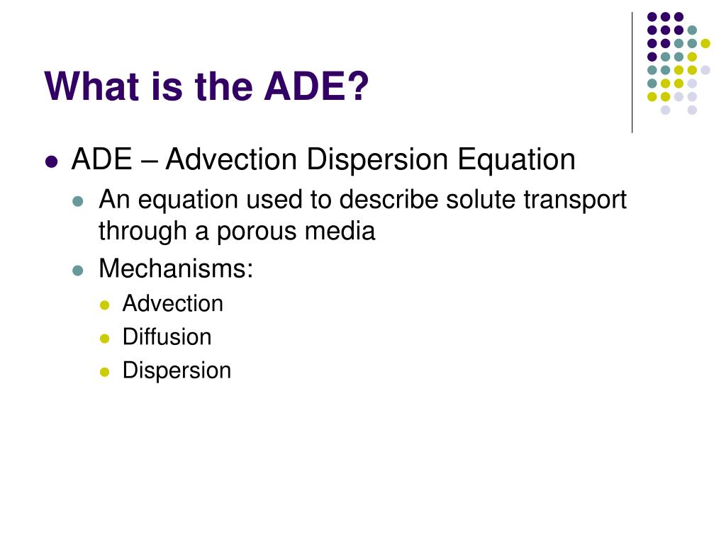 PPT - The Advection Dispersion Equation PowerPoint Presentation - ID