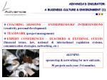 advancia s incubator a business culture environment 1