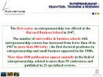 entrepreneurship education training research