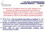the ideal entrepreneurship training program teamwork