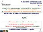 training for entrepreneurship advancia ccip 1